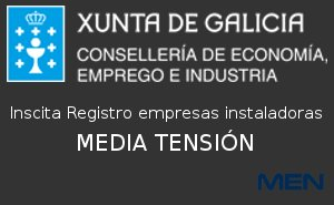 inscrita Registro empresas instaladoras de MEDIUM VOLTAGE